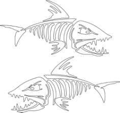 Fish Skeleton Vector Art Free Vector Cdr