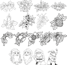Christmas Decorations Free Vector Cdr