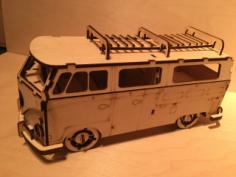 Volkswagen Minibus Laser Cut Free Vector Cdr