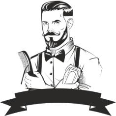 Barber Logo Design Free Vector Cdr