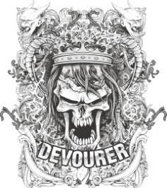 Devourer T-Shirt Print Free Vector Cdr