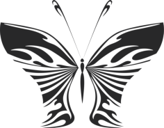 Butterfly Wall decal Free Vector Cdr