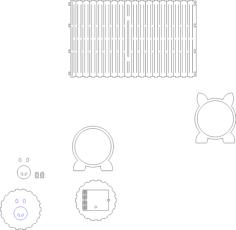 علبة مناديل او حصالة مدورة Free Vector Cdr