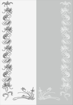 Floral Design Sandblast Pattern Free Vector Cdr