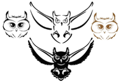 Owl Silhouette Vectors Free Vector Cdr