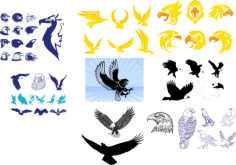 Tribal Wing Tattoos Vector Art Collection Free Vector Cdr