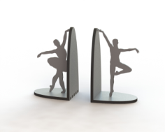 Laser Cut Ballerina Pair Book Supports Free Vector Cdr