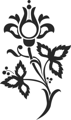 Floral Scrolls Silhouettes Vector Art Free Vector Cdr