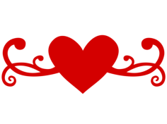 Heart Flourish Free Vector Cdr