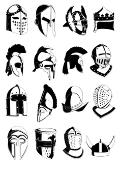 Ancient helmets vector Free Vector Cdr
