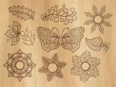Vintage butterfly Decor Free Vector Cdr