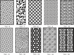 CNC Jali Cutting Pattern Collection Free Vector Cdr