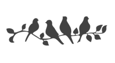 Beautiful Birds on a Branch Stencil Vector Free Vector Cdr