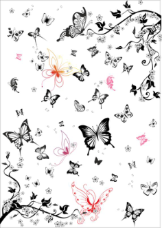 The Super Multi Black And White Butterfly Vector Set Free Vector Cdr