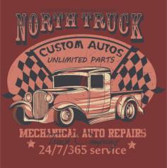 North Truck Design Vector Free Vector Cdr