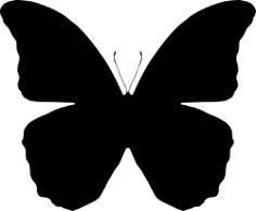 Butterfly Silhouettes Vector Free Vector Cdr