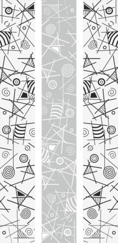 Geometric Line Art Sandblast Pattern Free Vector Cdr