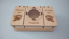 Tea Box Laser Cut Free Vector Cdr