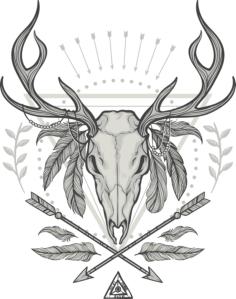 Deer Shaman Print Free Vector Cdr
