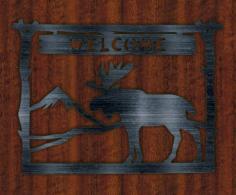 Plate Welcome Deer Free Vector Cdr
