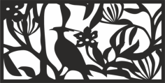 Floral Screen Panel Design Vector Free Vector Cdr