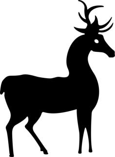 Deer Standing Silhouette Vector Free Vector Cdr