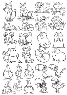 Cartoon Animals Vector Pack Free Vector Cdr