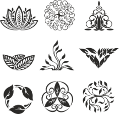 Floral Ornament Elements Free Vector Cdr