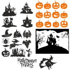 Halloween vectors Free Vector Cdr