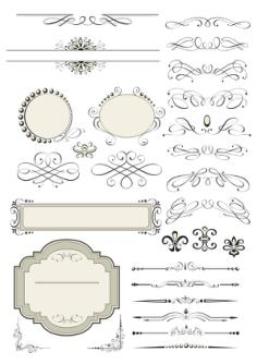 Vector Decorative Design Elements Page Decor Free Vector Cdr