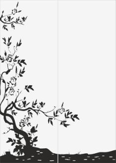 Abstract Tree Sandblast Pattern Free Vector Cdr