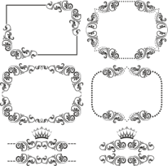Ornament Border Set Free Vector Cdr
