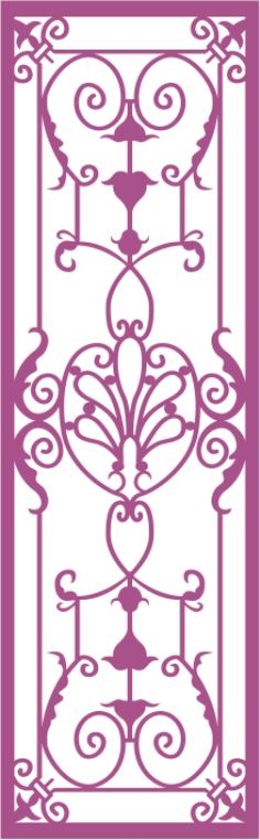 Wrought Iron Grille Pattern Free Vector Cdr