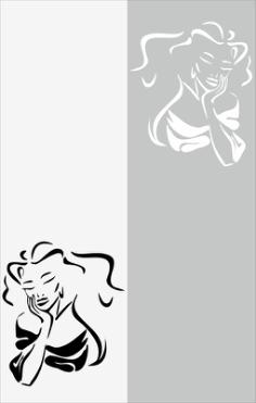 Miss Beauty Sandblast Pattern Free Vector Cdr