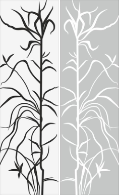 Tree And Leaf Abstract Pattern Sandblast Pattern Free Vector Cdr