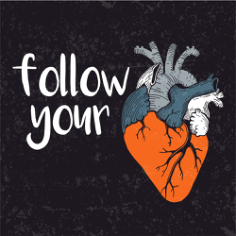 Follow Your Heart Print Free Vector Cdr