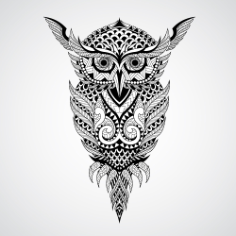 Geometrical owl vector art Free Vector Cdr