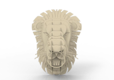 Lion head 3D puzzle Free Vector Cdr