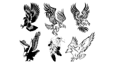 Awesome Tribal Eagle Tattoos Free Vector Cdr