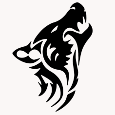 Wolf Tribal Animal Tattoo Free Vector Cdr