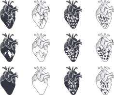 Heart Vector Set Free Vector Cdr