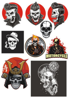 Vinyl Stickers Vinyl Skull Design Vectors Free Vector Cdr