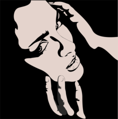 Vector of Woman with hands on face Free Vector Cdr