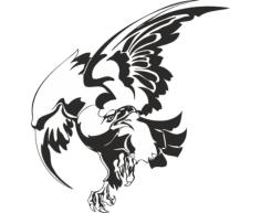 Bird Hawk Vulture Wall Sticker Free Vector Cdr