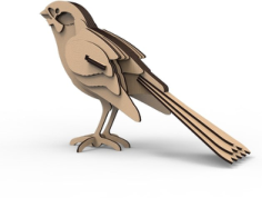 Sparrow 3D Puzzle Free Vector Cdr