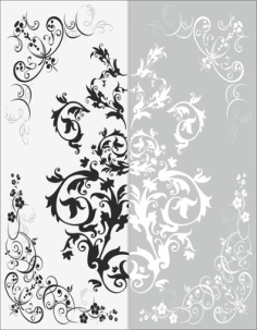 Decor Flower Sandblast Pattern Free Vector Cdr
