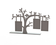 Tree Frame Laser Cut Free Vector Cdr