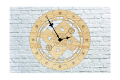 Poker Wall Clock Free Vector Cdr