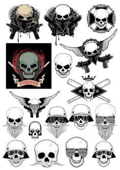 Gangster Skull Free Vector Cdr