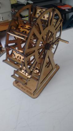 Ferris wheel 3D Puzzle Free Vector Cdr
